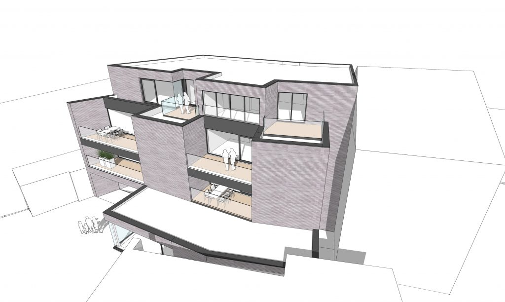 kantoor en appartementen